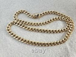 14k CUBAN LINK MIAMI Chain Solid Gold 26 x 8 mm -116.1 grams HEAVY Necklace