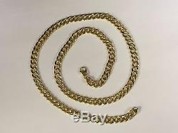 14k Gold Miami Cuban Curb Link 22 7.4 mm 20 Grams chain/Necklace (REL)