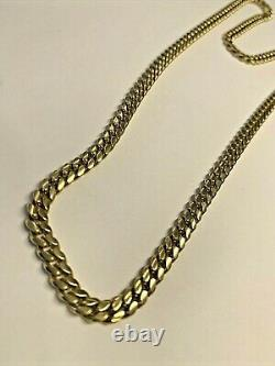 14k Gold Solid Cuban Link Chain 24 Inch, 44.2 grams, 4.7mm
