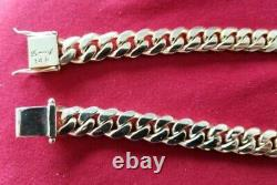 14k Miami Cuban Link solid yellow gold chain 26 1/2 inches 214+grams