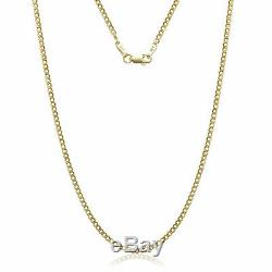 14k Solid Yellow Gold Cuban Link Chain Necklace 16- 30 Men's Women All Sizes