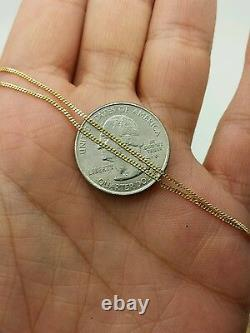 14k Solid Yellow Gold Gourmette Miami Cuban Necklace Pendant Chain 1.0mm 16-20