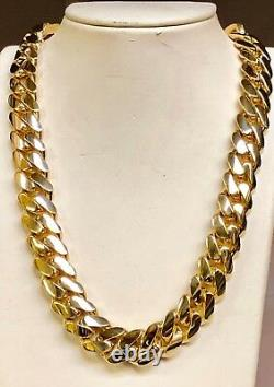 14k Solid Yellow Gold Miami Cuban Curb Link 20 16mm 340 grams chain/Necklace