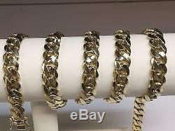 14k Solid Yellow Gold Miami Cuban Curb Link 25 9 mm 144 grams chain/Necklace