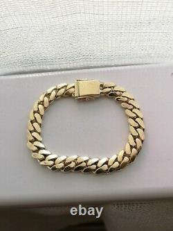 14k Solid Yellow Gold Miami Cuban Curb Link Bracelet 8 64.1g 9.8mm
