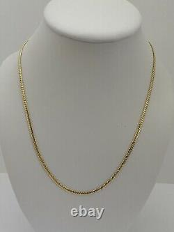 14k Solid Yellow Gold Miami Cuban Curb Link Chain 20-2.5 mm-10.6Gr-AG14C676Y
