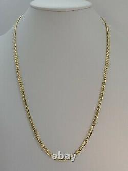 14k Solid Yellow Gold Miami Cuban Curb Link Chain 26-4 mm-32.4 Gr-AG14C674Y