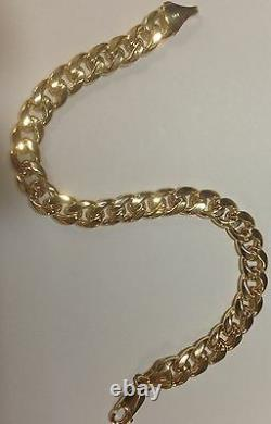14k Solid Yellow Gold Miami Cuban Curb Solid Link 7 5.3 mm 10 grams Bracelet