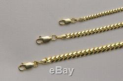14k Solid Yellow Gold Miami Cuban Link Necklace Chain 2mm-4mm Sz 20-36