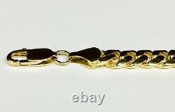 14k Solid Yellow gold Miami Cuban Curb Link mens bracelet 7inch 25 grams 8MM