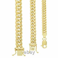 14k Yellow Gold 4.5mm-7mm Miami Cuban Link Chain Necklace Sz 18-30