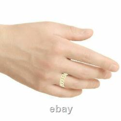 14k Yellow Gold Miami Cuban Ring Curb Link Band 6.7mm Ring Size 7.5 4.8 grams
