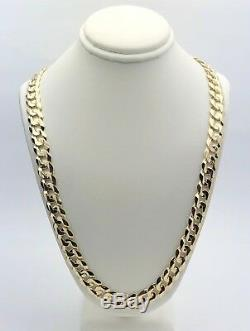 14k Yellow Gold Solid Curb Cuban Link Chain Necklace 24 9.5mm 56-59 grams