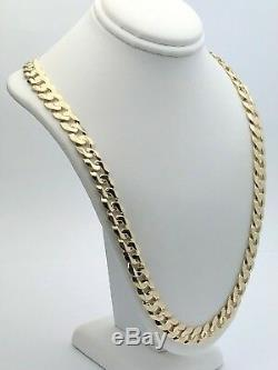 14k Yellow Gold Solid Curb Cuban Link Chain Necklace 24 9mm 58-61 grams
