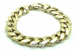 14k Yellow Gold Solid Miami Cuban Link Chain Bracelet 8.5 13.25mm 90 grams