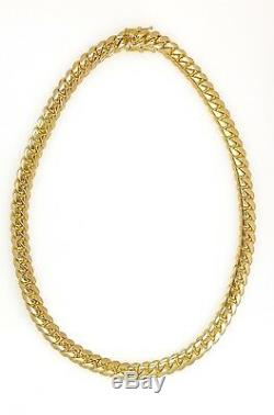 14k Yellow Solid Gold Miami Cuban Link Chain 24.5 8mm 136.3 Grams