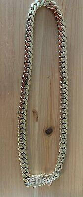 14k miami cuban link solid gold chain 30 Inches 16mm 494 Grams With VIP Lock