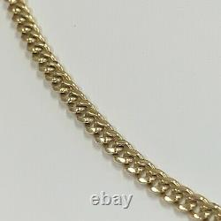 14kt Solid Gold Cuban 27 Link Chain Necklace 4mm Thick 37.1 Grams