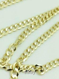 18K Solid Gold Cuban Chain Necklace Men Women All Sizes 16 18 20 22 24 30