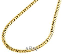18K Yellow Gold 4.10mm Super Solid Miami Cuban Link Chain Necklace 20 24 Inch