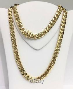 18k Solid Yellow Gold Heavy Cuban Curb/Link Chain Necklace, 26. 73.35 Grams