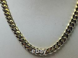 18k Solid Yellow Gold Miami Cuban Curb Link 24 8 mm 115 grams chain/Necklace