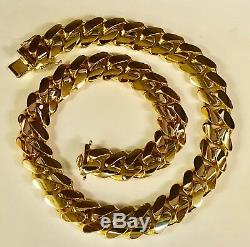 18k Solid Yellow Gold Miami Cuban Curb Link 40 18mm 1000+ grams chain/Necklace