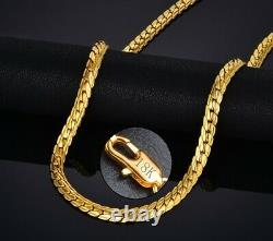 18k Yellow Gold Women's Wide 6mm Cuban Link Chain Necklace w GiftPkg D517G