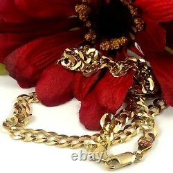 20 14K Yellow Gold CUBAN Link Necklace Chain 6mm 16.7g (f30 31)