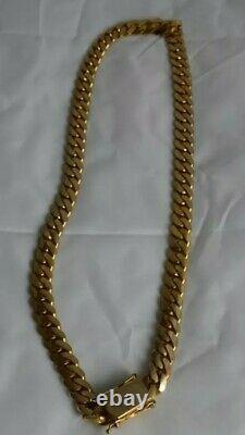 22k Solid Gold Miami Cuban 22 10.0 mm 180.84 grams chain/Necklace custom order