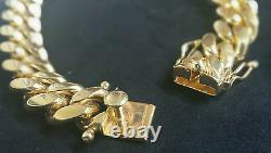 26 Miami Cuban Link Chain 14K Yellow Gold Over 925 Sterling Silver Necklace