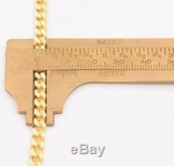 5mm Miami Cuban Chain Necklace Solid 14K Yellow Gold Clad Silver Box Lock Italy