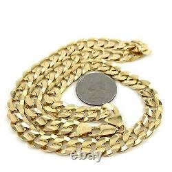 69.8g 20 14K Yellow Gold CUBAN Link Necklace Chain 9.5mm HEAVY (g33 07)