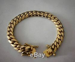 8MM Men's Miami Cuban Curb Link 8 Bracelet in 14K Yellow Gold Finish For Gift