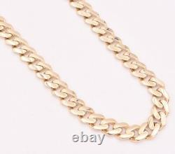 9mm Miami Cuban Royal Link Chain Necklace Box Clasp Real 10K Yellow Gold 18