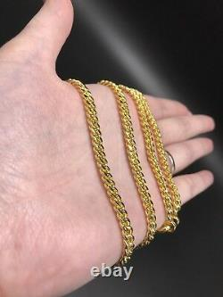 Beautiful Pure 24k Solid Gold Cuban Link Chain 75 Gram 22 Inches 5mm Width