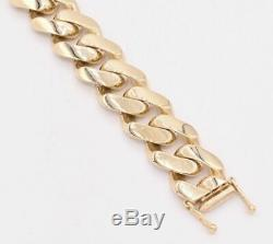 Bold 17mm Mens Miami Cuban Royal Link Bracelet Box Clasp Real 10K Yellow Gold 9