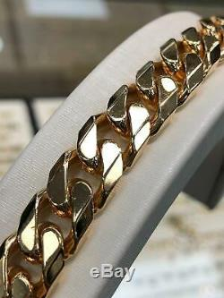 CURB HEAVY Bracelet 375 9CT Yellow SOLID Gold Genuine 64.3gr BRAND NEW 9 12MM