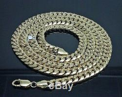 Genuine 10k Yellow Gold Miami Cuban Link Chain 7mm 24 inch, Franco, Rope, 10kt