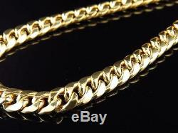 Hip Hop Yellow Gold Cuban Link Chain Necklace 30