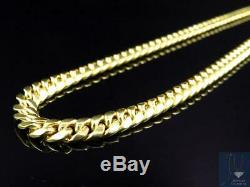 Hollow 10K Yellow Gold Miami Cuban Link Chain Necklace 28-38 inches (6 mm)