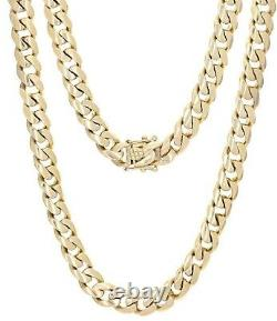 Men's 14k Yellow Gold Heavy Solid Cuban Chain Link Necklace 21 10mm 150 grams