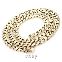 Men's 14k Yellow Gold Solid Heavy Miami Cuban Chain Necklace 22 10mm 147 grams