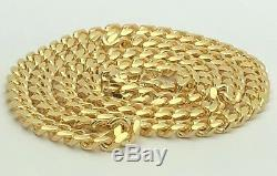 Men's 14k Yellow Gold Solid Heavy Miami Cuban Link Chain Necklace 22 7.2mm 92g