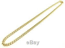Men's 14k Yellow Gold Solid Miami Cuban Chain Necklace 24 7mm 102.3 grams