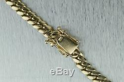 Men's Modern Solid 14K Yellow Gold 103.30gr 7mm Cuban Link Chain 26.25 Necklace