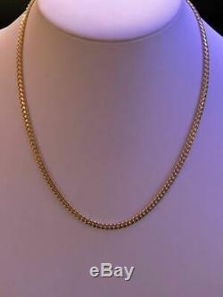 Men's Solid 14k Yellow Gold Miami Cuban Link Chain 5mm Necklace 22-26 43-52g
