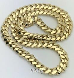 Men's Solid Heavy 10k Yellow Gold Miami Cuban Chain Necklace 24 12.5mm 229.9g
