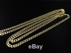 Mens 10K Yellow Gold Diamond Cut Curb Cuban Chain Necklace 3.5 mm 18-30 Inches