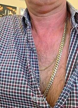 Mens 14k Solid Gold Cuban Chain 30.5 Inches 189 grams 9.4mm